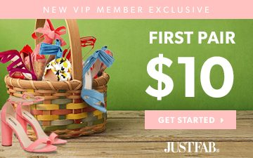 JustFab First Pair $10 VIP Exclusive