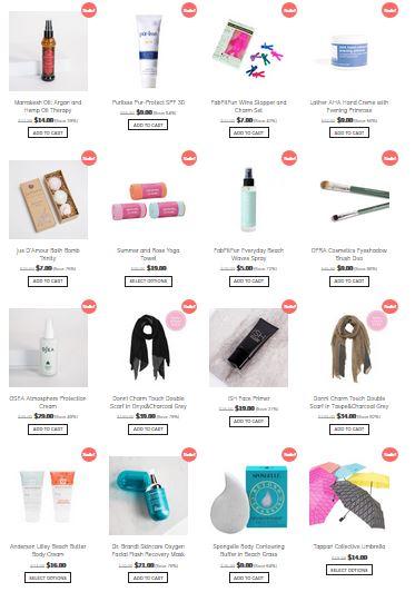 FabFitFun Spring Warehouse Sale Items