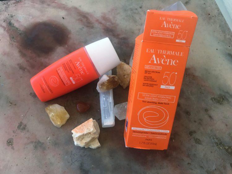 Avene 50+ sunscreen for face