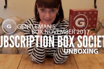 Gentleman's Box November 2017 Unboxing