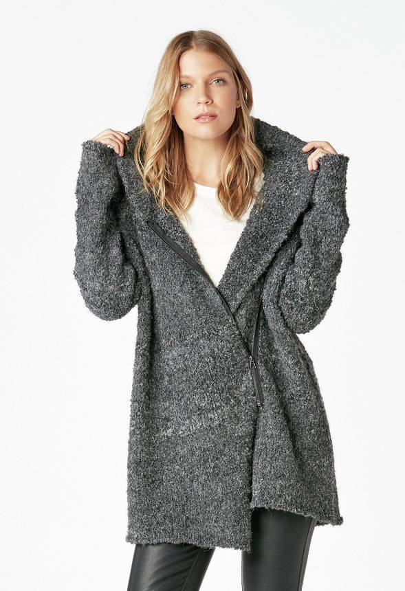 JustFab Cozy Zip Sweater